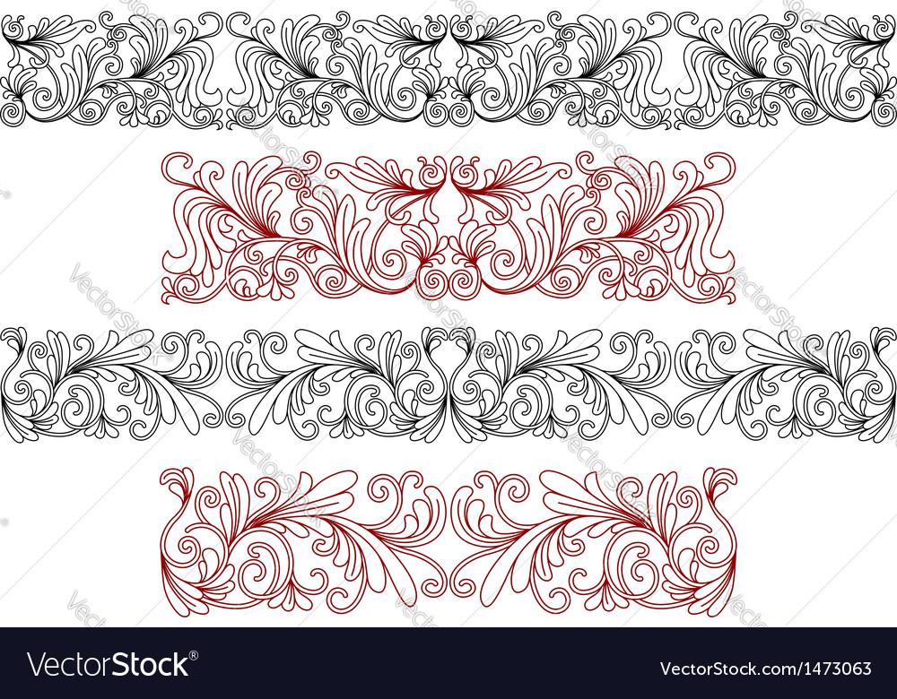 Decorative ornaments and borders vector | Price: 1 Credit (USD $1)