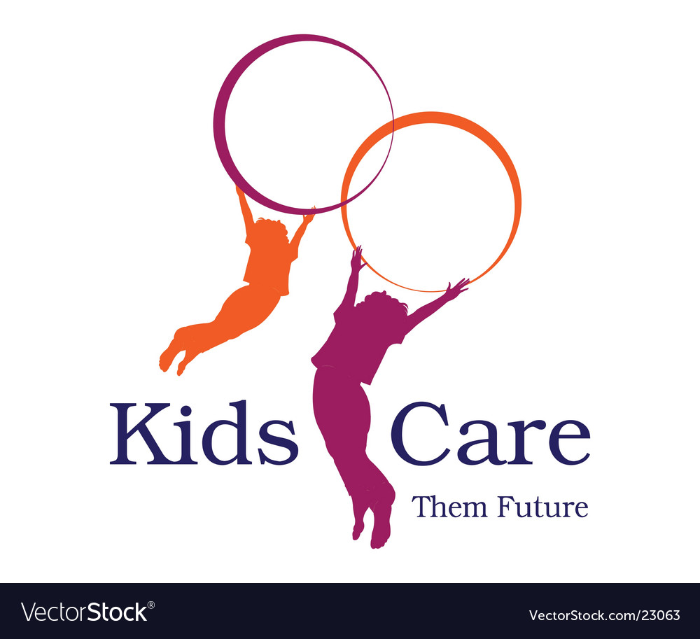 Kids care logo vector | Price: 1 Credit (USD $1)