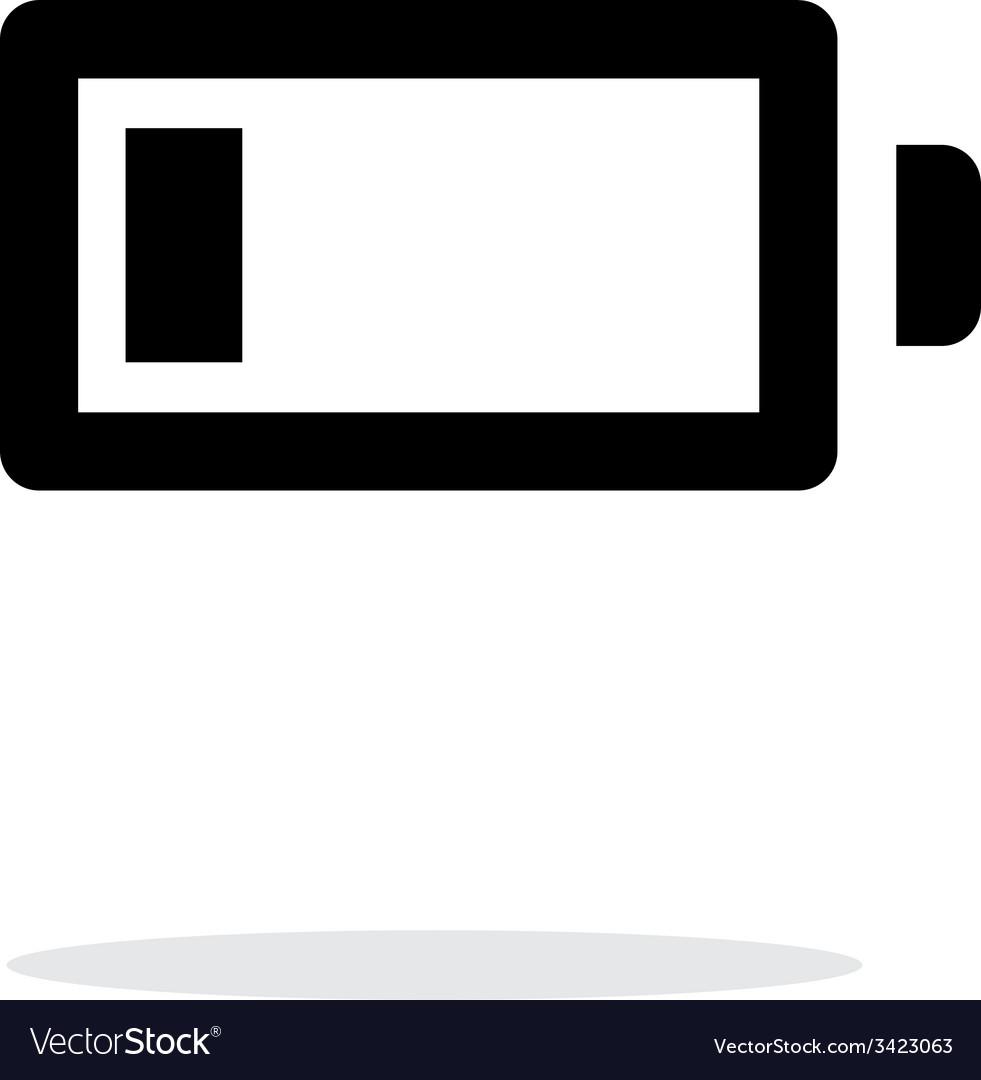 Little charge battery simple icon on white vector | Price: 1 Credit (USD $1)