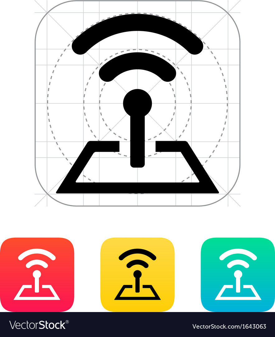 Radio tower base icon vector | Price: 1 Credit (USD $1)