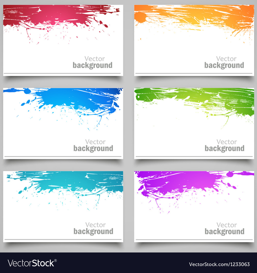 Set of colored cards vector | Price: 1 Credit (USD $1)