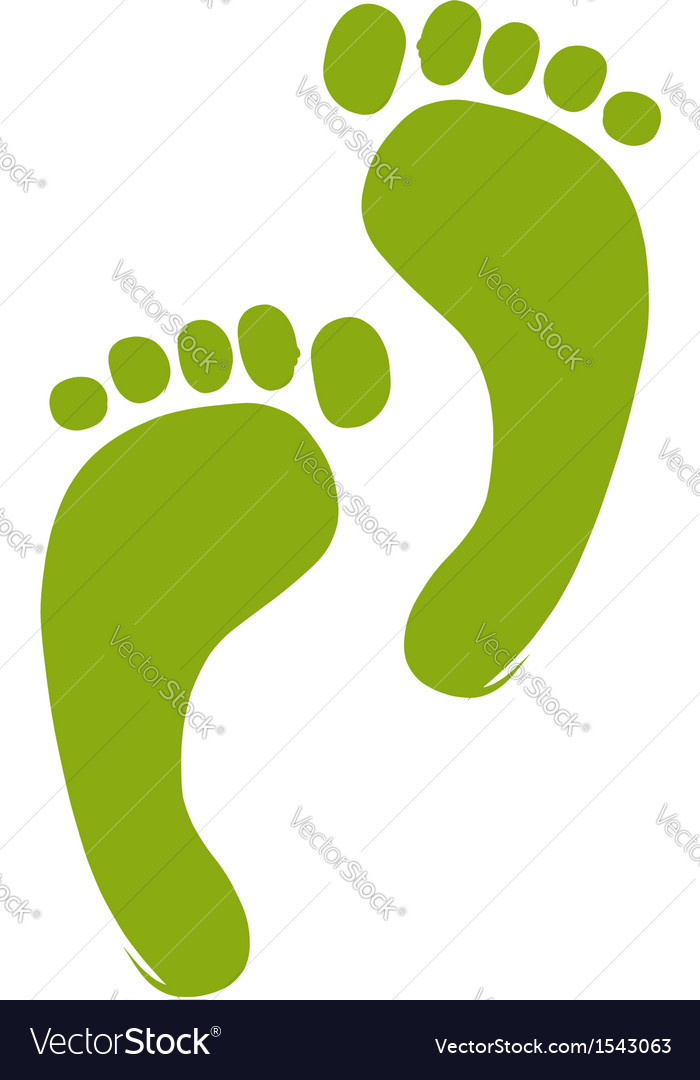 Sketch of green footprint for your design vector | Price: 1 Credit (USD $1)