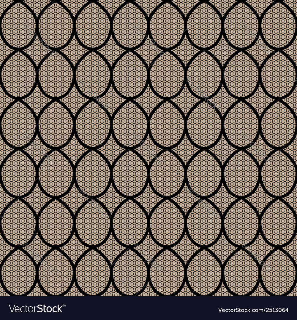 Black lace seamless background vector