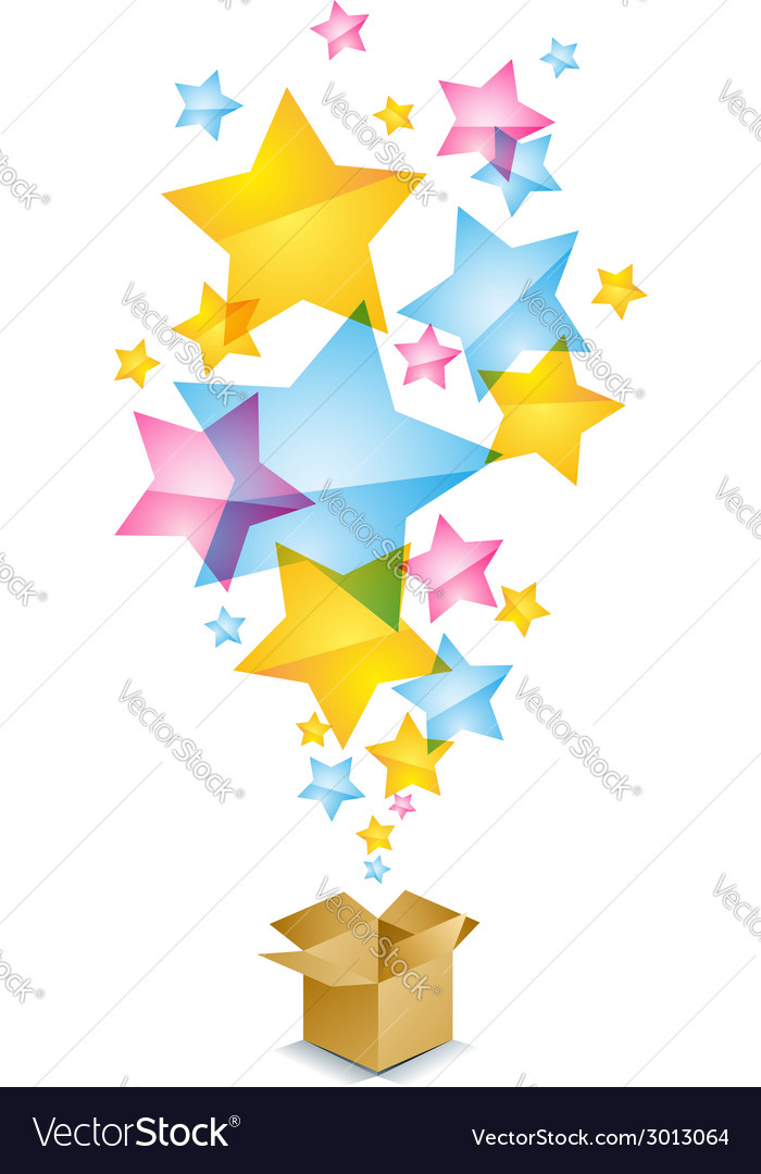Box and stars vector | Price: 1 Credit (USD $1)
