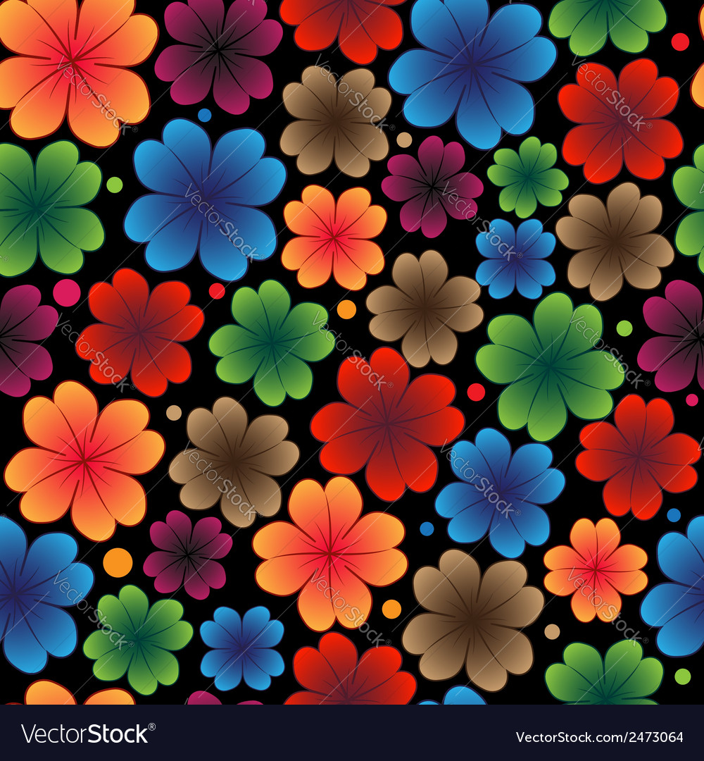 Bright flowers vector | Price: 1 Credit (USD $1)