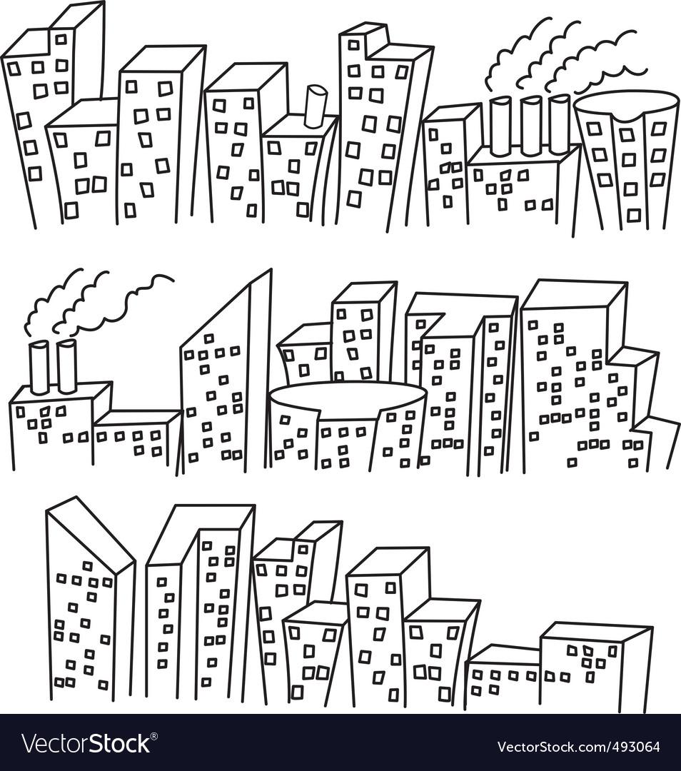 Building doodle vector | Price: 1 Credit (USD $1)