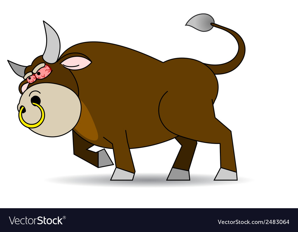 Bull furious vector | Price: 1 Credit (USD $1)