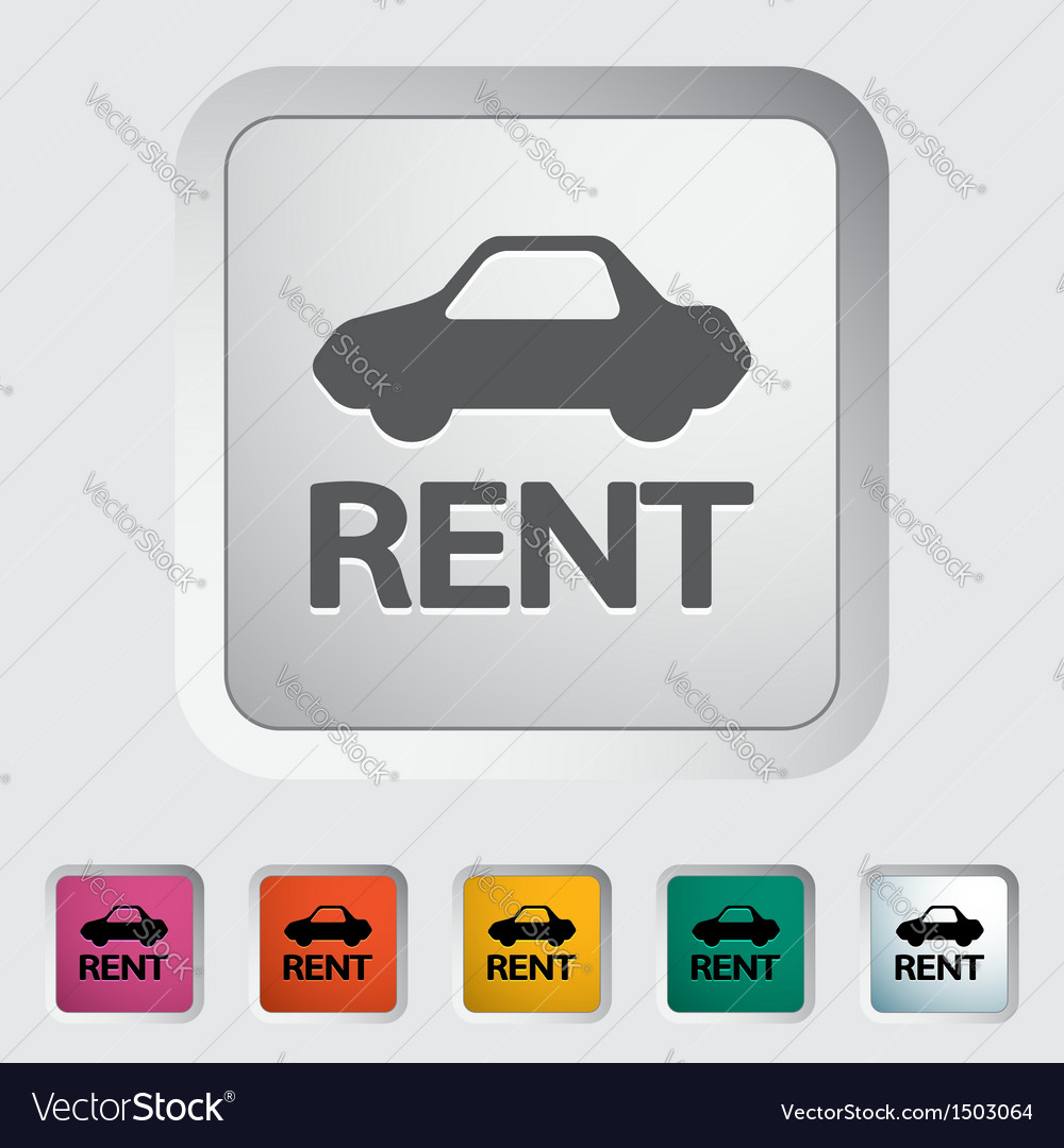 Car for rent vector | Price: 1 Credit (USD $1)
