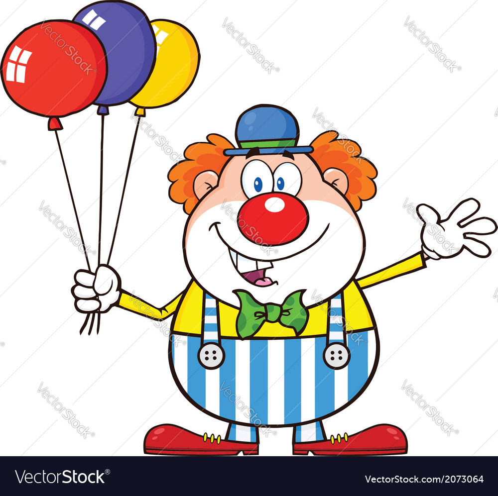 Cartoon clown vector | Price: 1 Credit (USD $1)