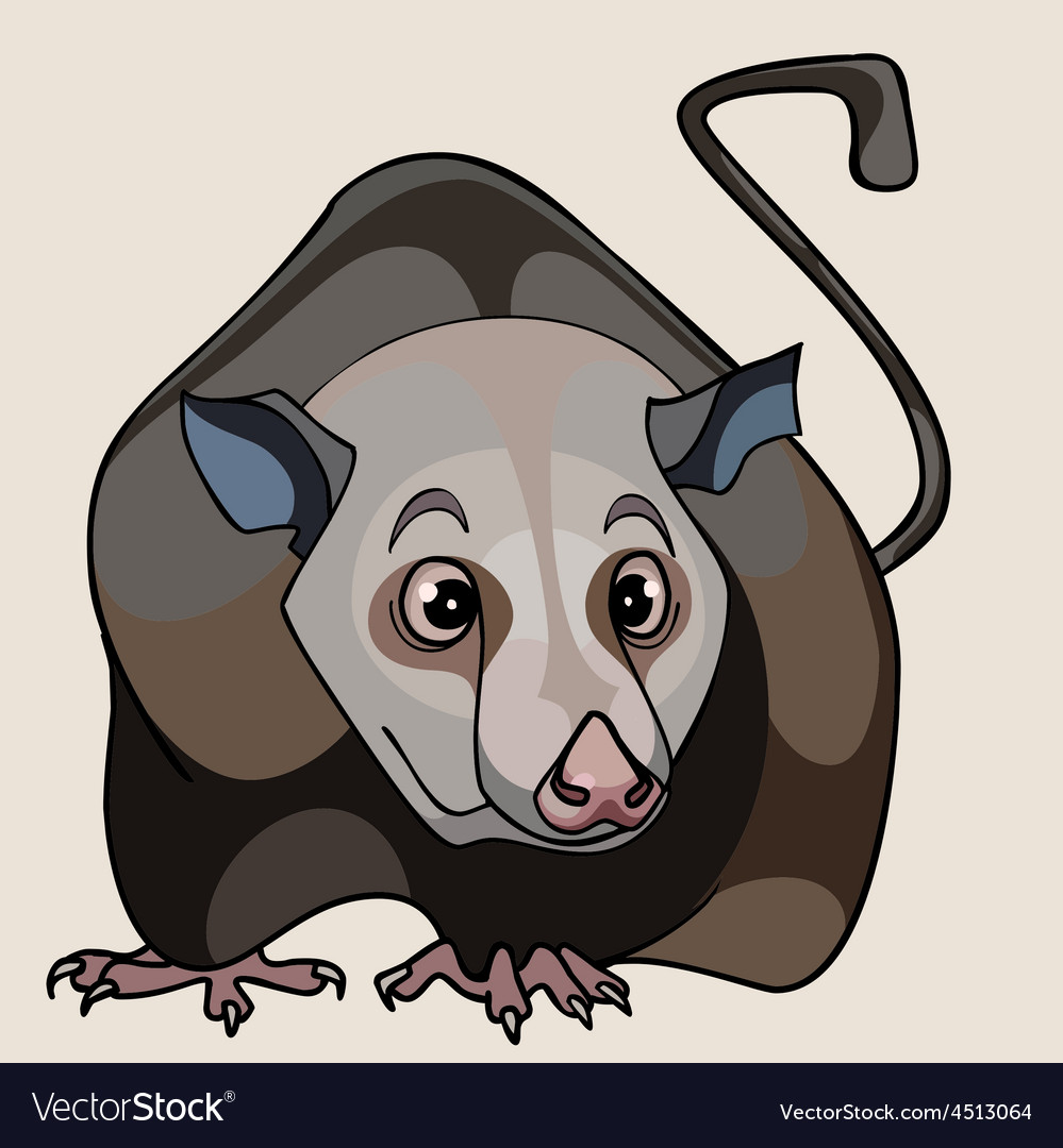 Cartoon rat brown vector | Price: 3 Credit (USD $3)