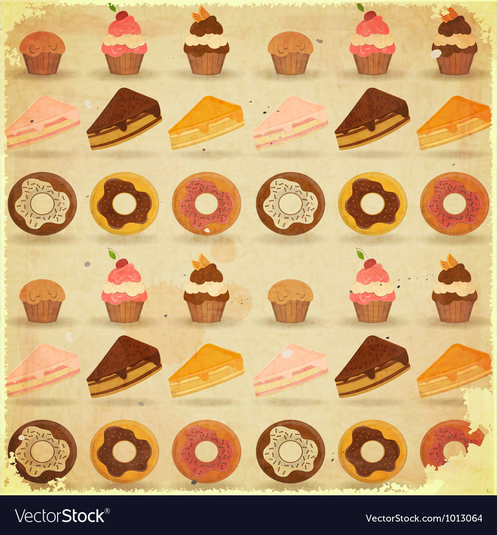 Dessert background vector | Price: 3 Credit (USD $3)