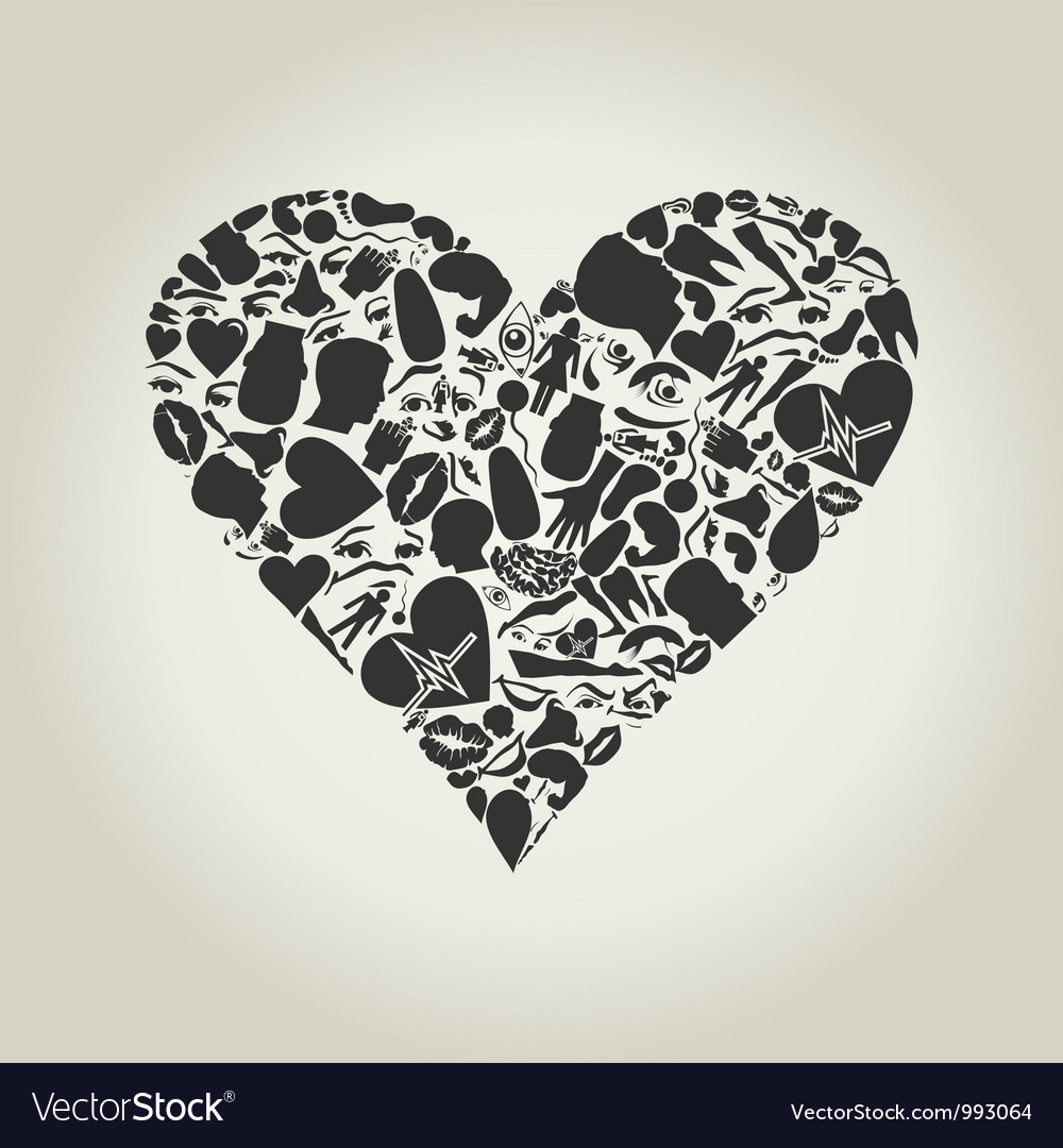 Heart of a part of a body vector | Price: 1 Credit (USD $1)