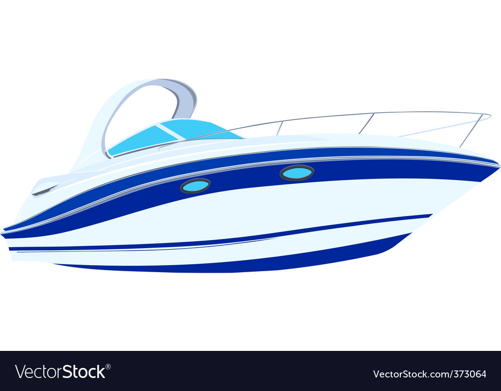 Motor launch illustration vector | Price: 1 Credit (USD $1)