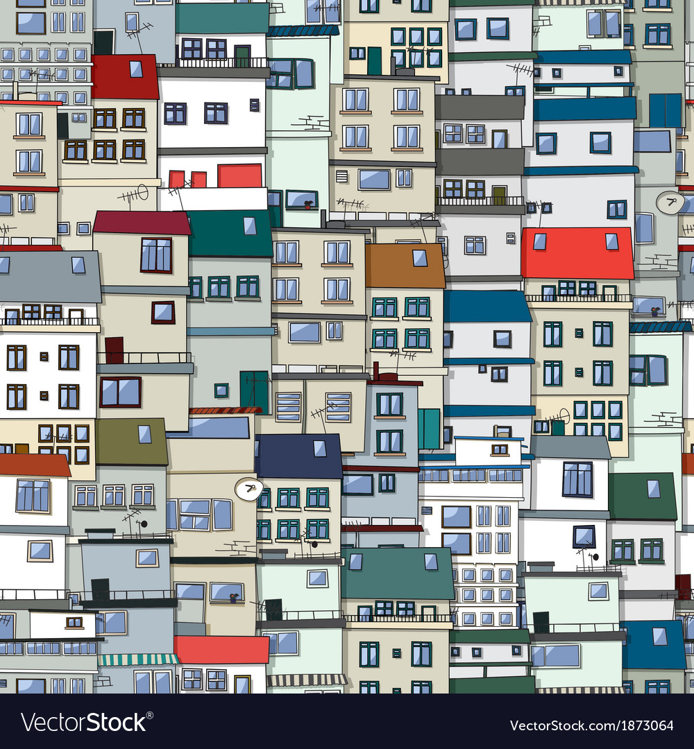 Old town seamless pattern vector   Price: 1 Credit (USD $1)
