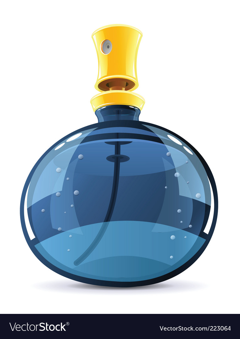 Perfume in glass bottle vector | Price: 1 Credit (USD $1)