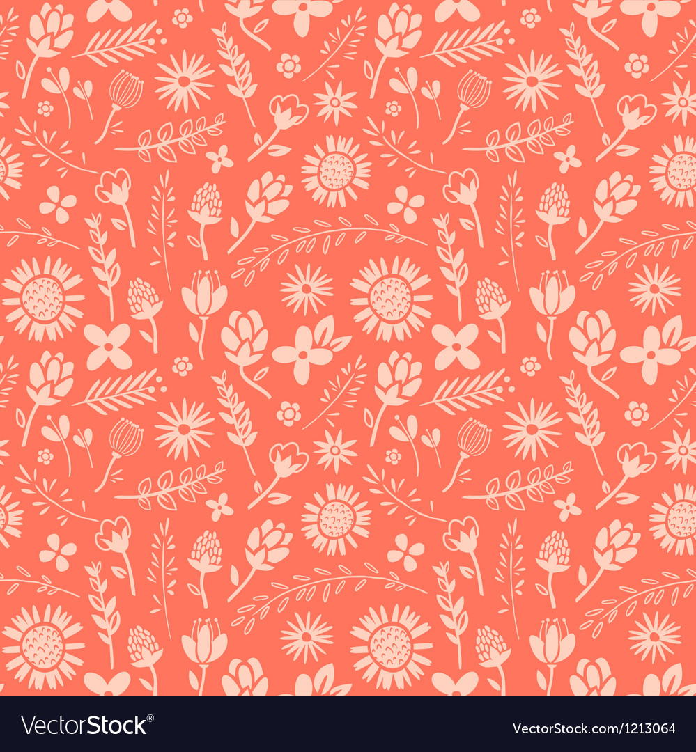 Pink floral pattern vector | Price: 1 Credit (USD $1)
