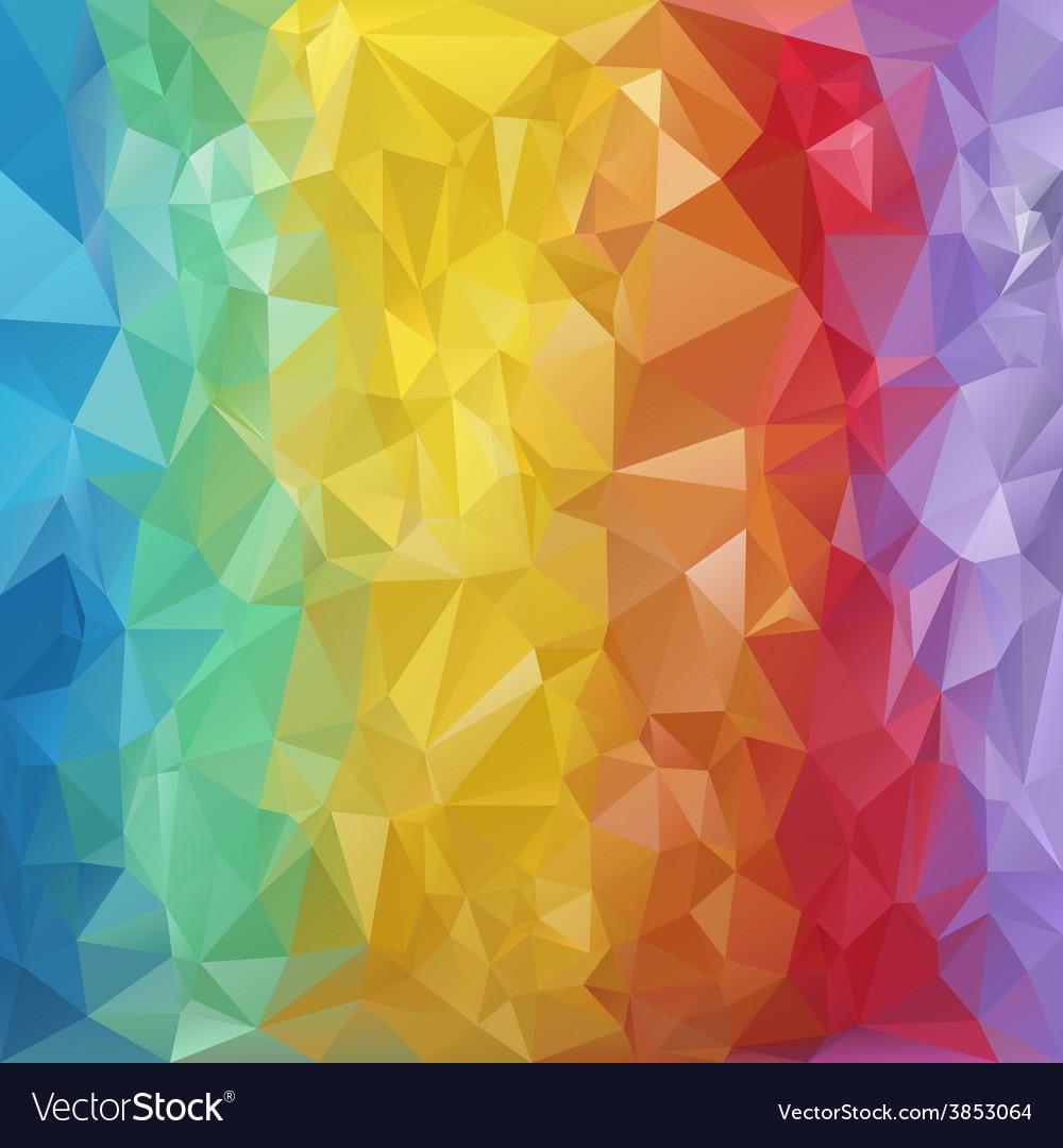 Rainbow striped polygonal triangular pattern vector | Price: 1 Credit (USD $1)