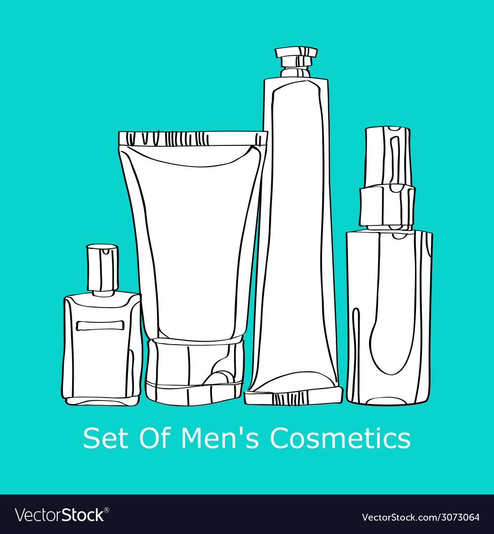 Set of mens cosmetics vector | Price: 1 Credit (USD $1)
