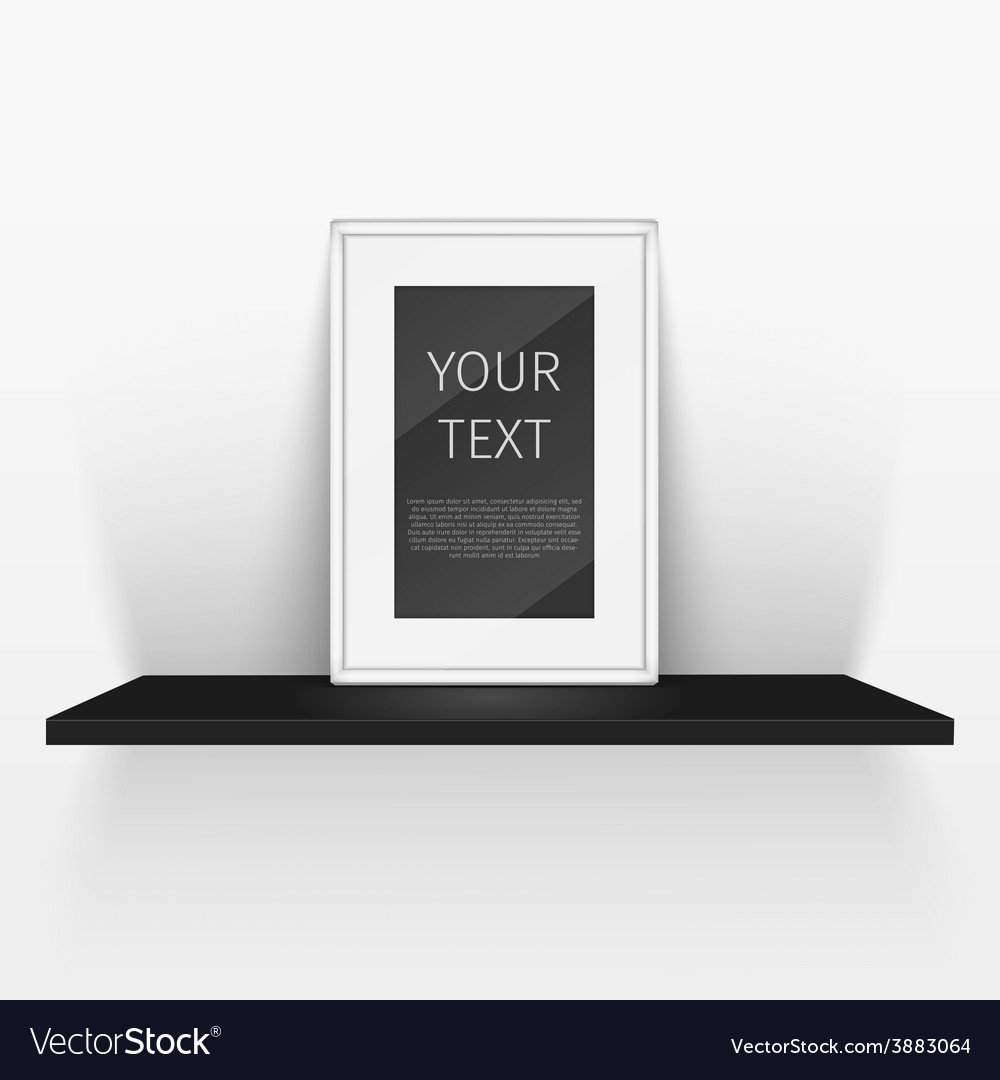 Shelf and blank poster vector | Price: 1 Credit (USD $1)