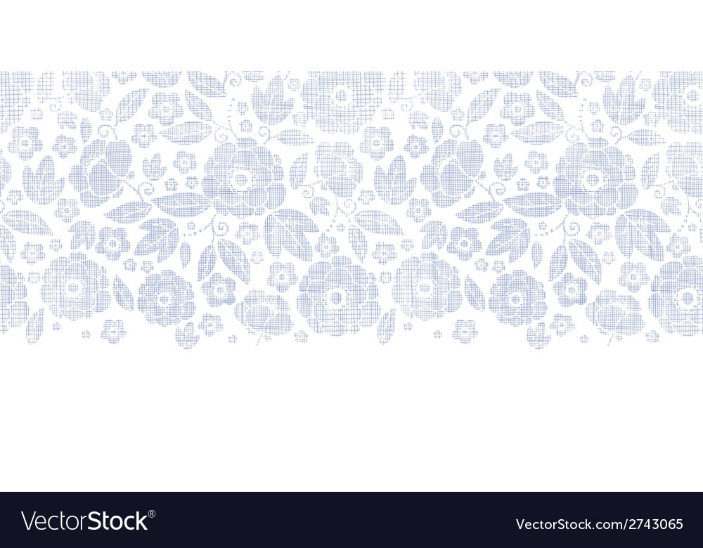 Purple textile flowers texture horizontal seamless vector | Price: 1 Credit (USD $1)