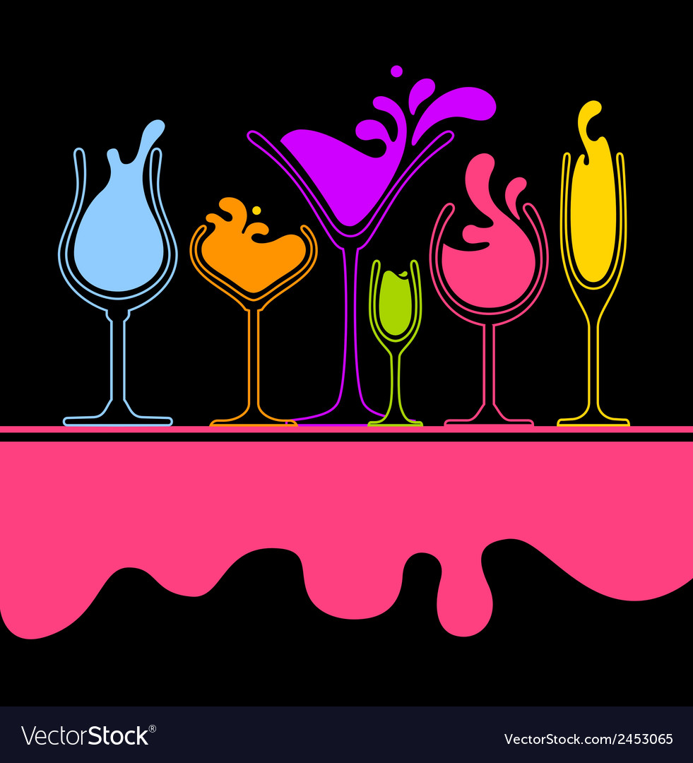 Silhouette of splash wine glass vector | Price: 1 Credit (USD $1)