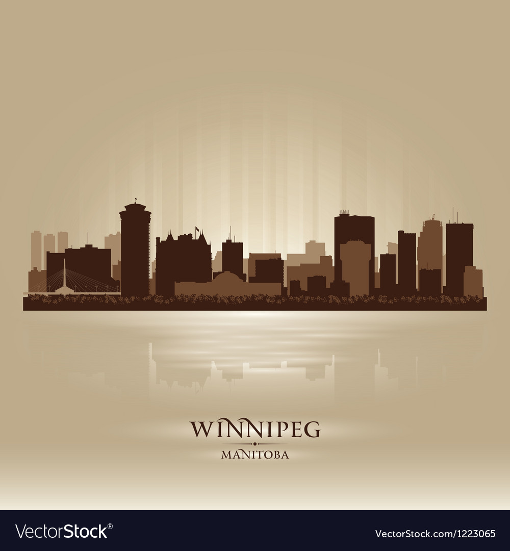 Winnipeg manitoba skyline city silhouette vector | Price: 1 Credit (USD $1)