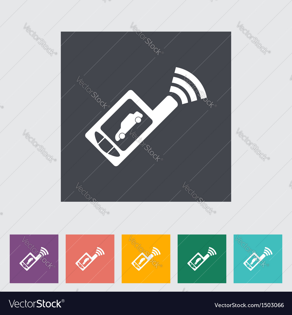 Car remote control icon vector | Price: 1 Credit (USD $1)