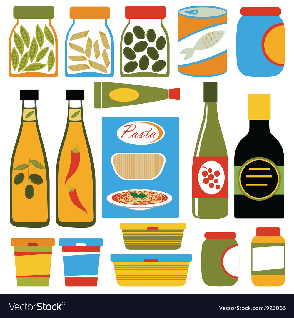 Colorful food composition vector | Price: 1 Credit (USD $1)