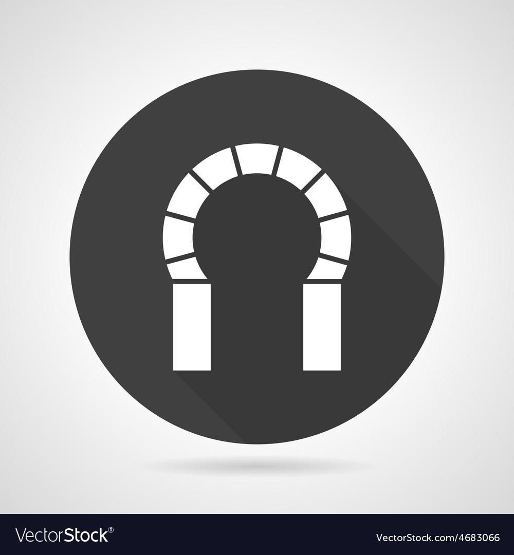 Horseshoe archway black round icon vector | Price: 1 Credit (USD $1)