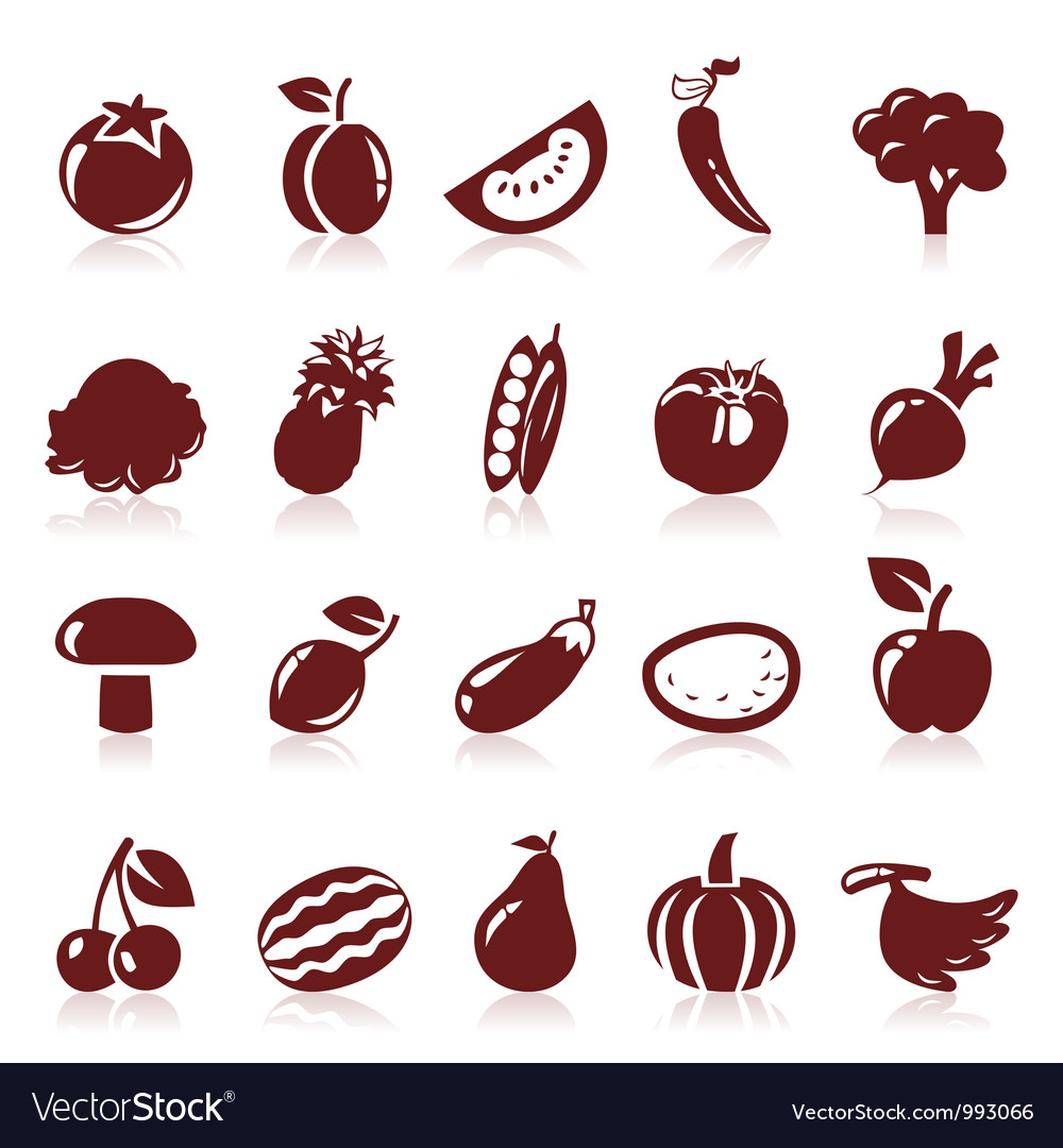 Icon fruit vector | Price: 1 Credit (USD $1)