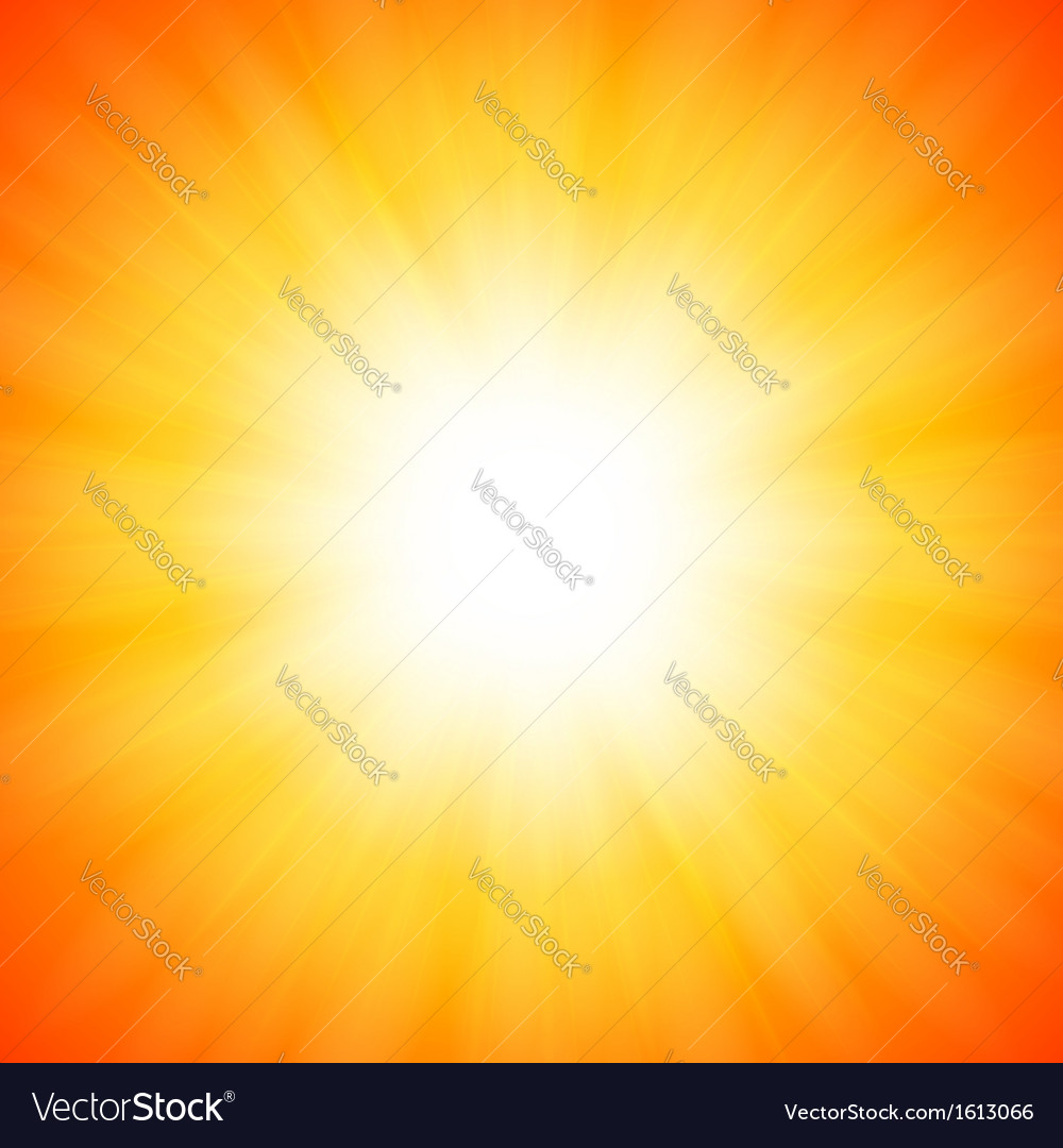 Orange shining sun vector | Price: 1 Credit (USD $1)