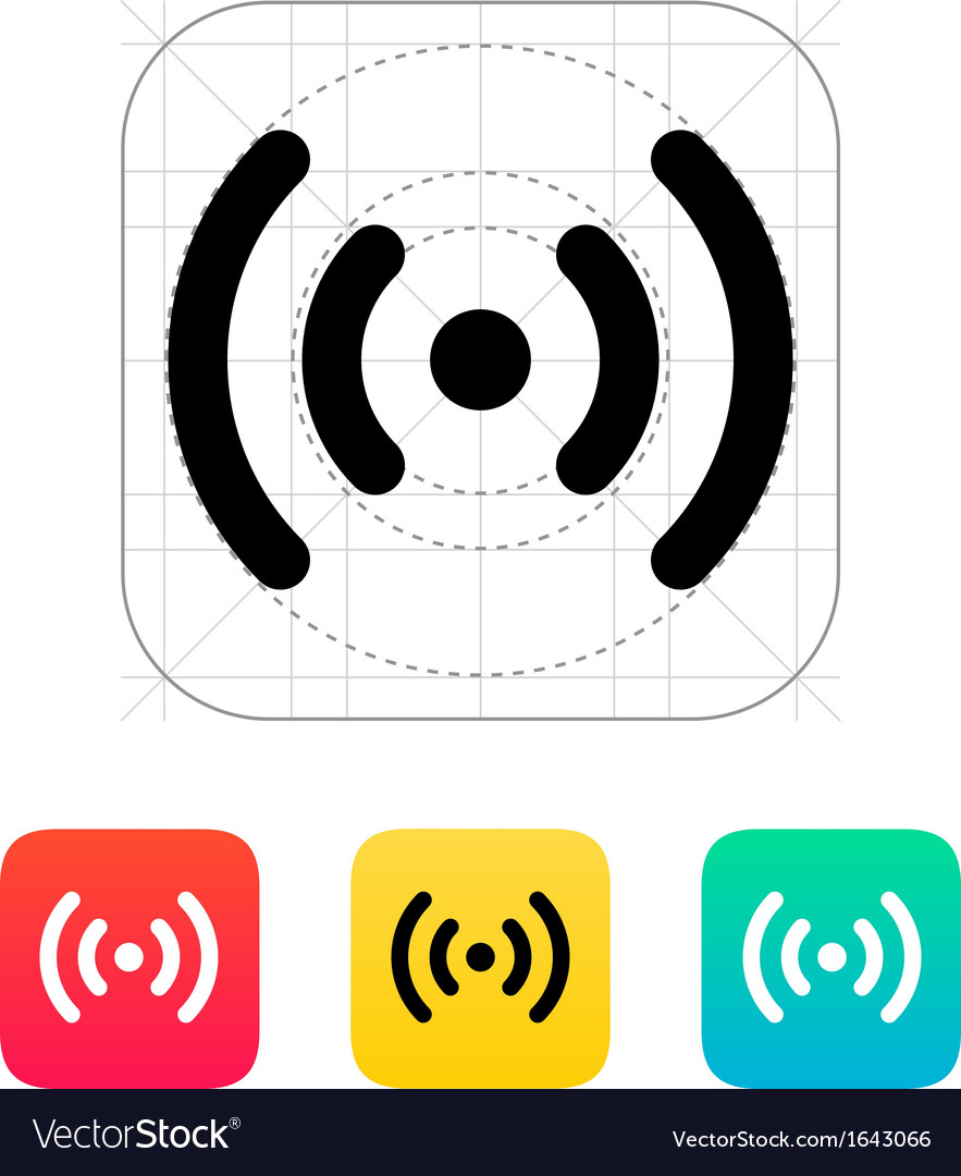 Radio waves icon vector | Price: 1 Credit (USD $1)