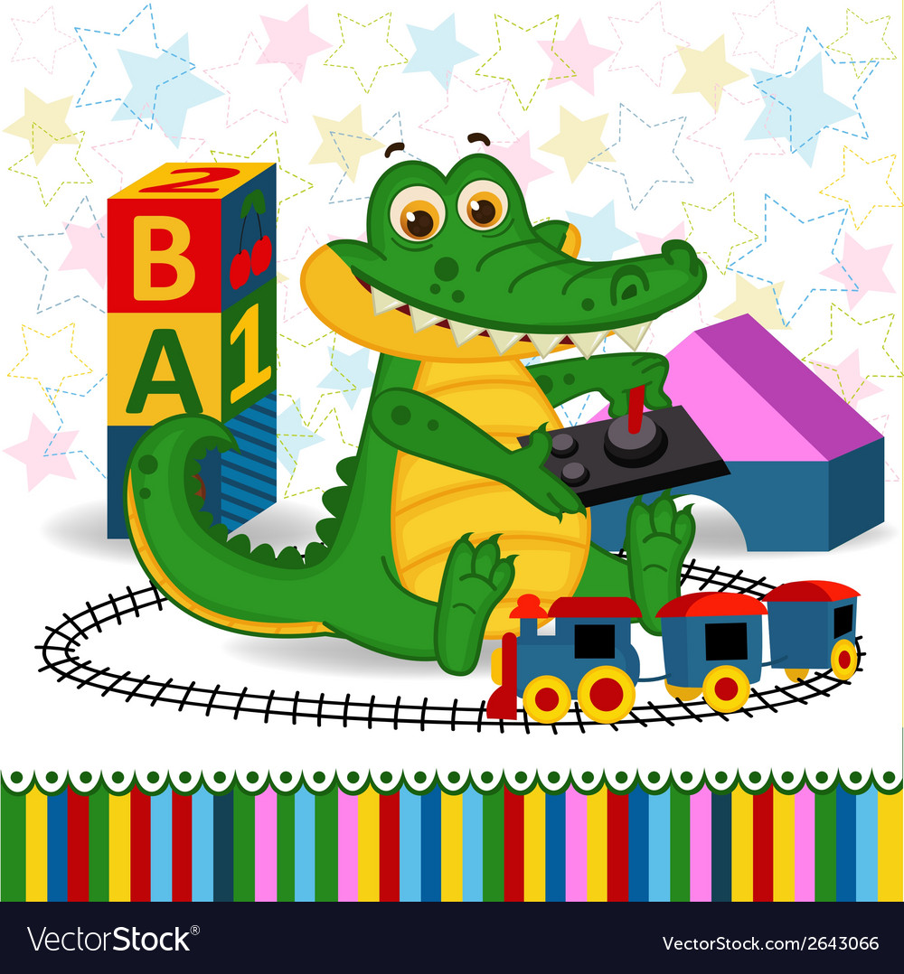 Rocodile railroad vector | Price: 3 Credit (USD $3)