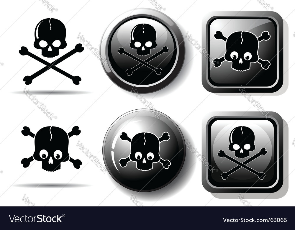 Skull sign vector | Price: 1 Credit (USD $1)