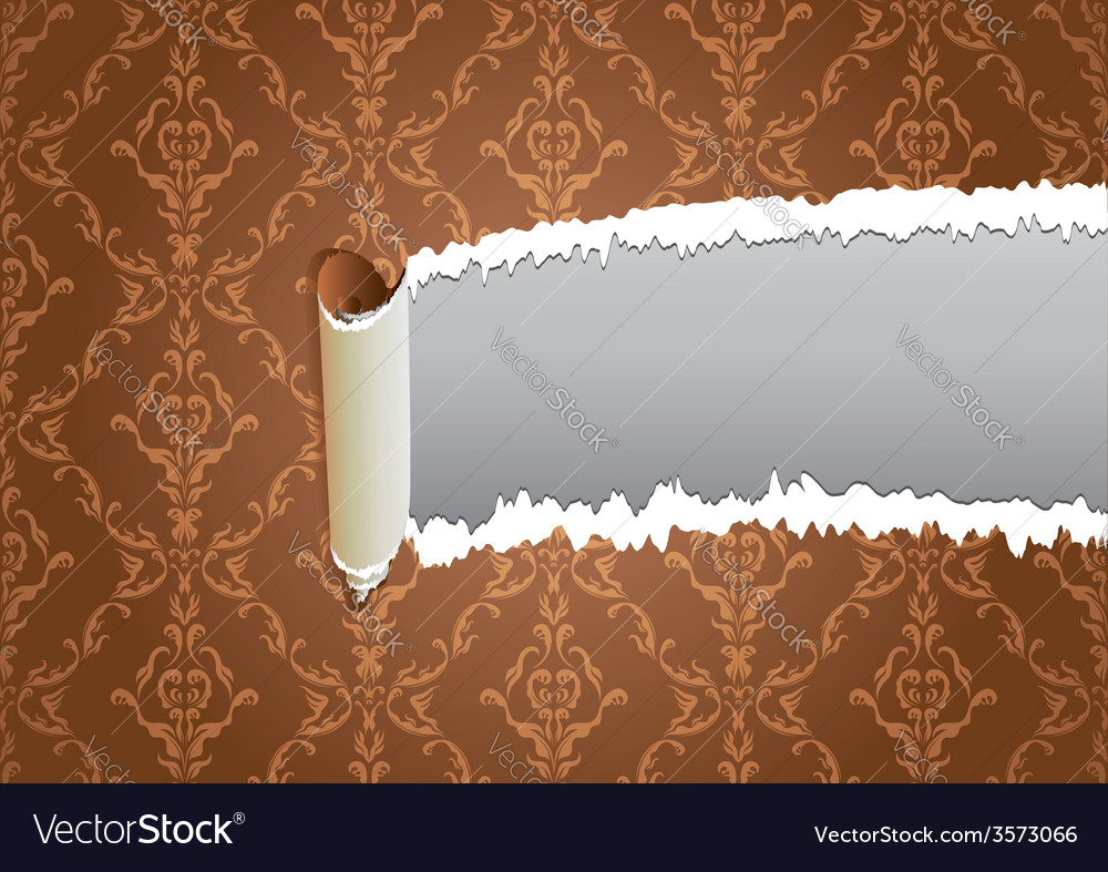 Torn wallpaper frame vector | Price: 1 Credit (USD $1)