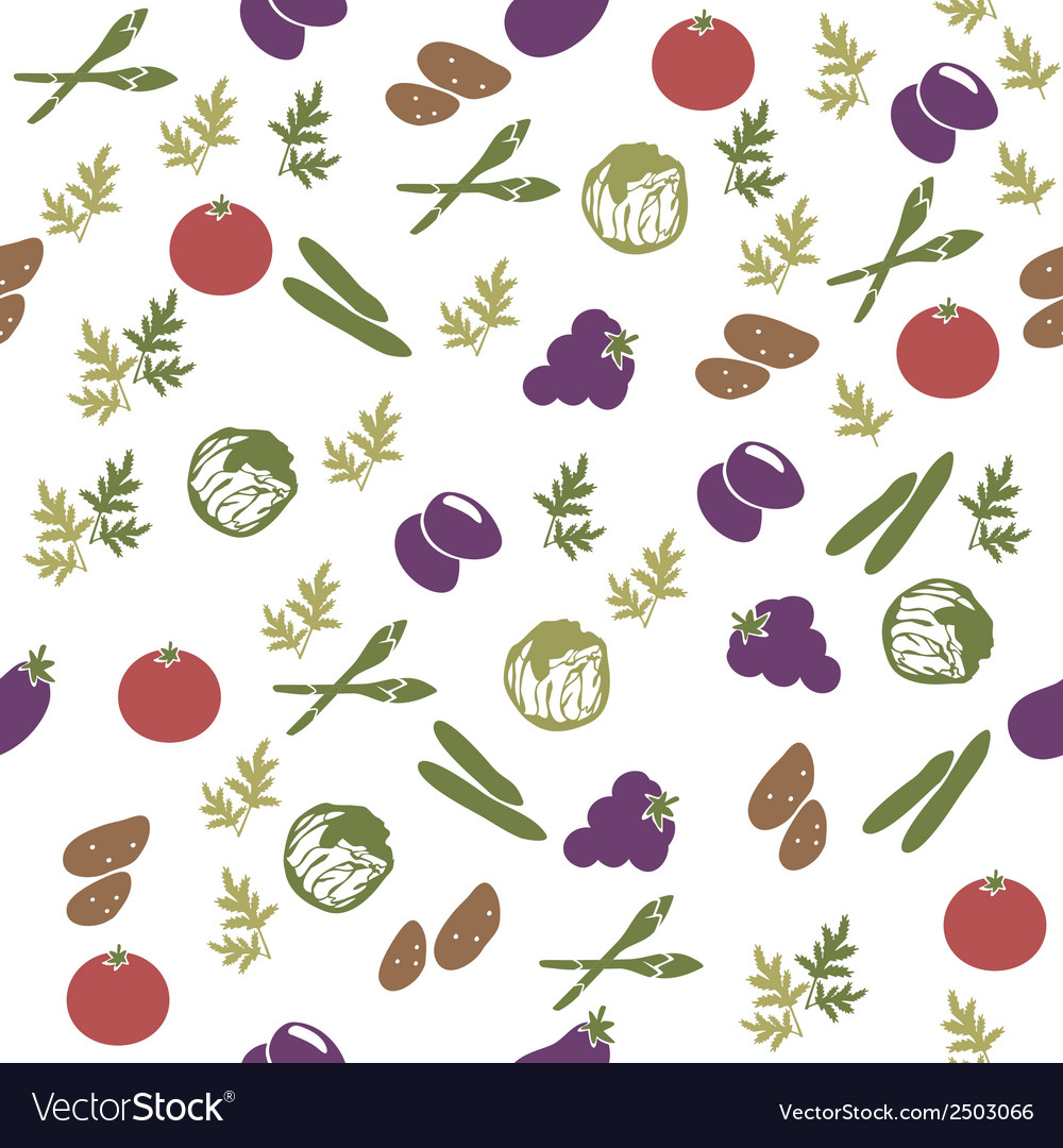 Vegetarian food seamless pattern vector | Price: 1 Credit (USD $1)