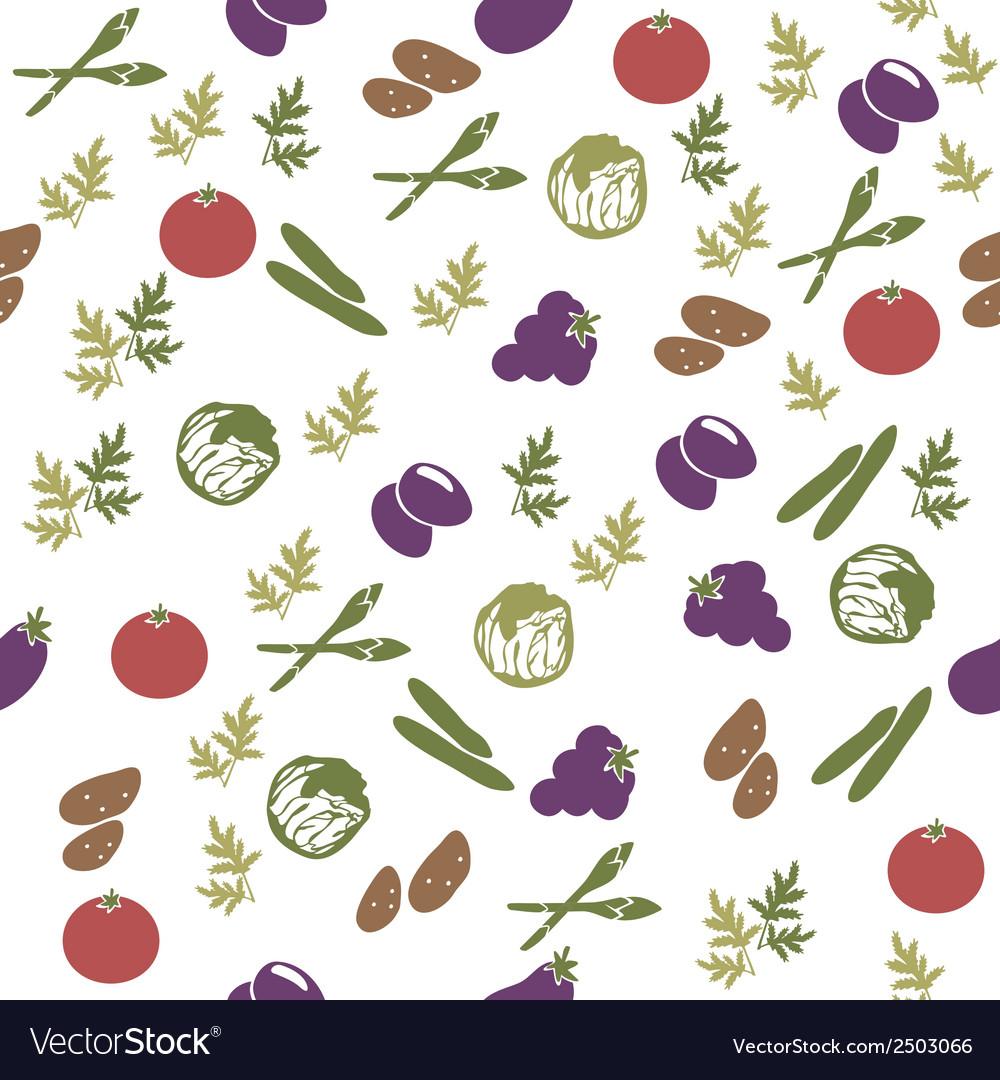 Vegetarian food seamless pattern vector | Price: 1 Credit (USD $1)