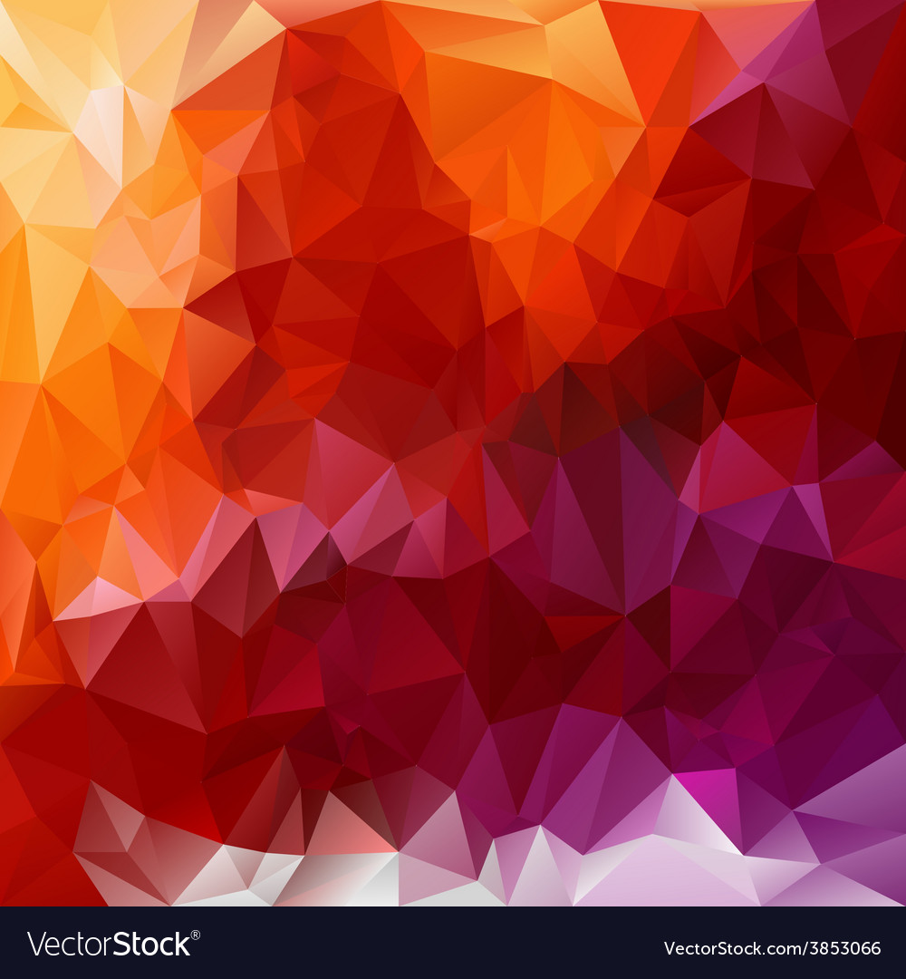 Violet orange red polygonal triangular pattern vector | Price: 1 Credit (USD $1)