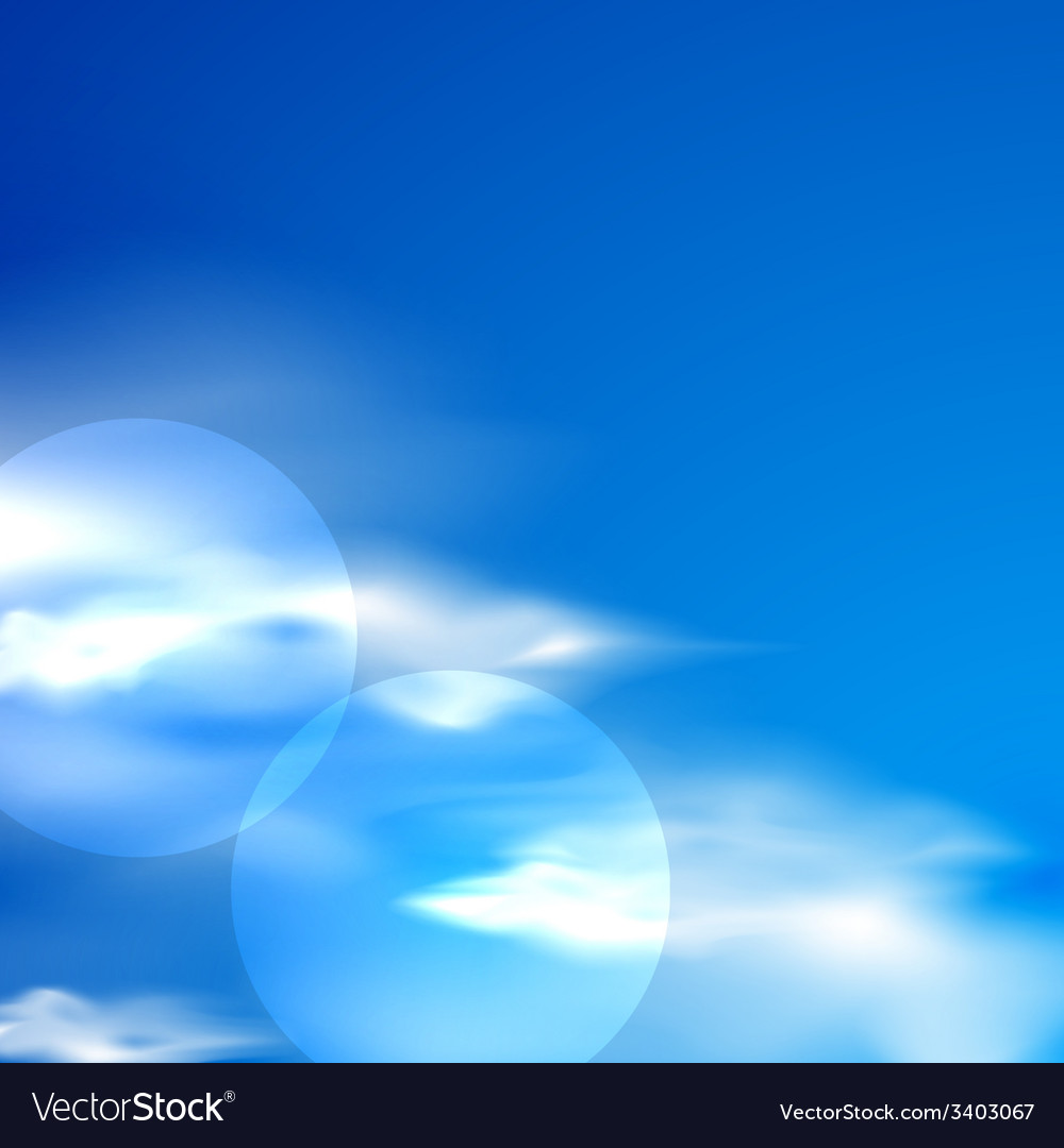 Abstract background with blue sky and clouds vector | Price: 1 Credit (USD $1)