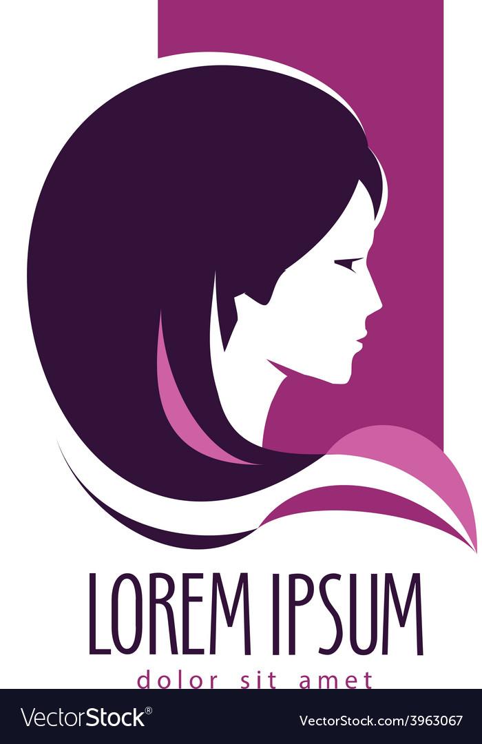 Beauty salon logo design template hairdressing vector | Price: 1 Credit (USD $1)