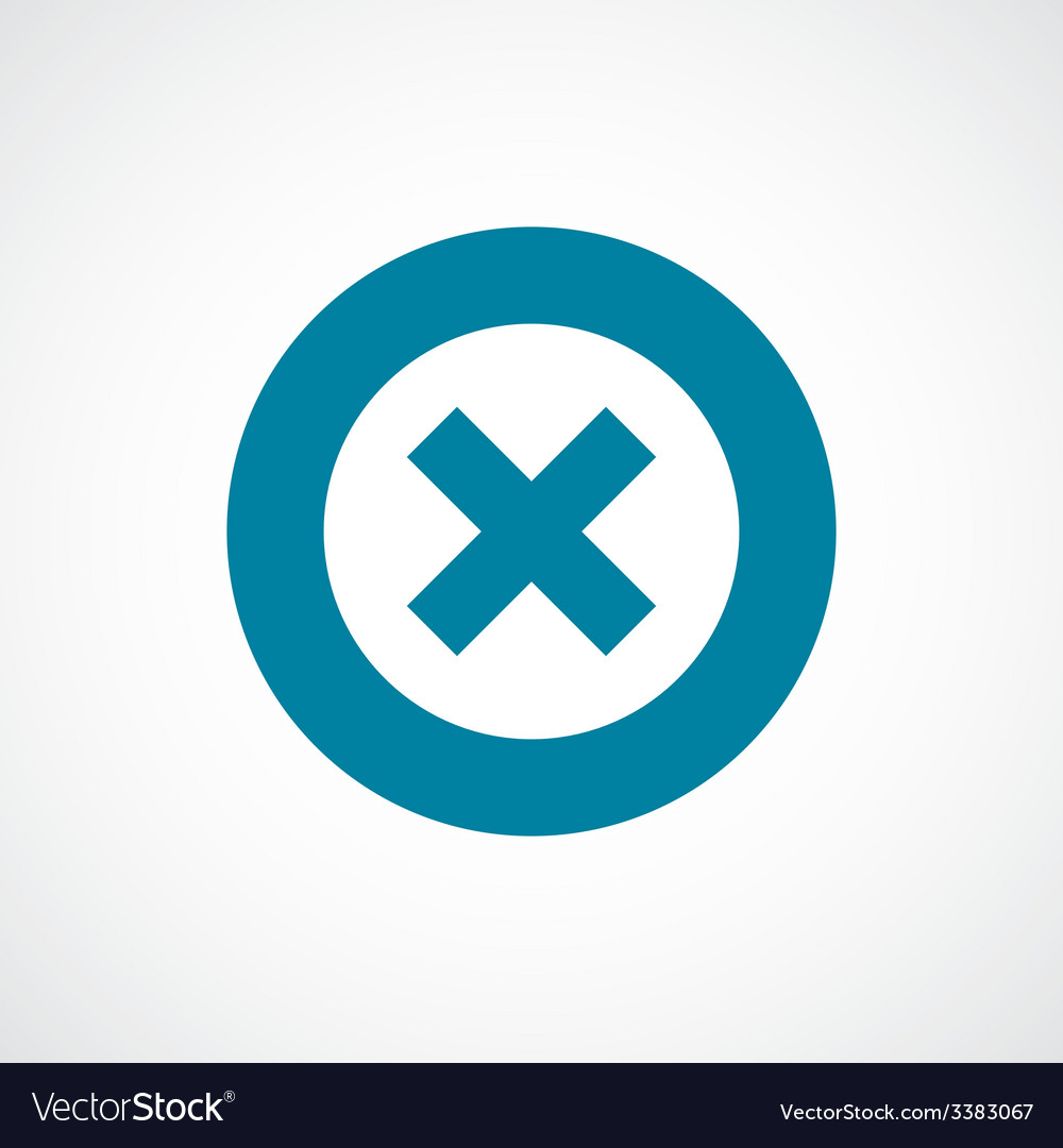 Close bold blue border circle icon vector | Price: 1 Credit (USD $1)