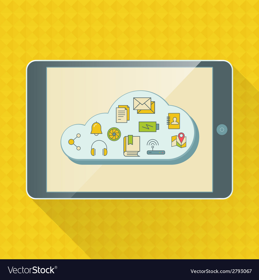 Cloud computing service infographics with icons vector | Price: 1 Credit (USD $1)