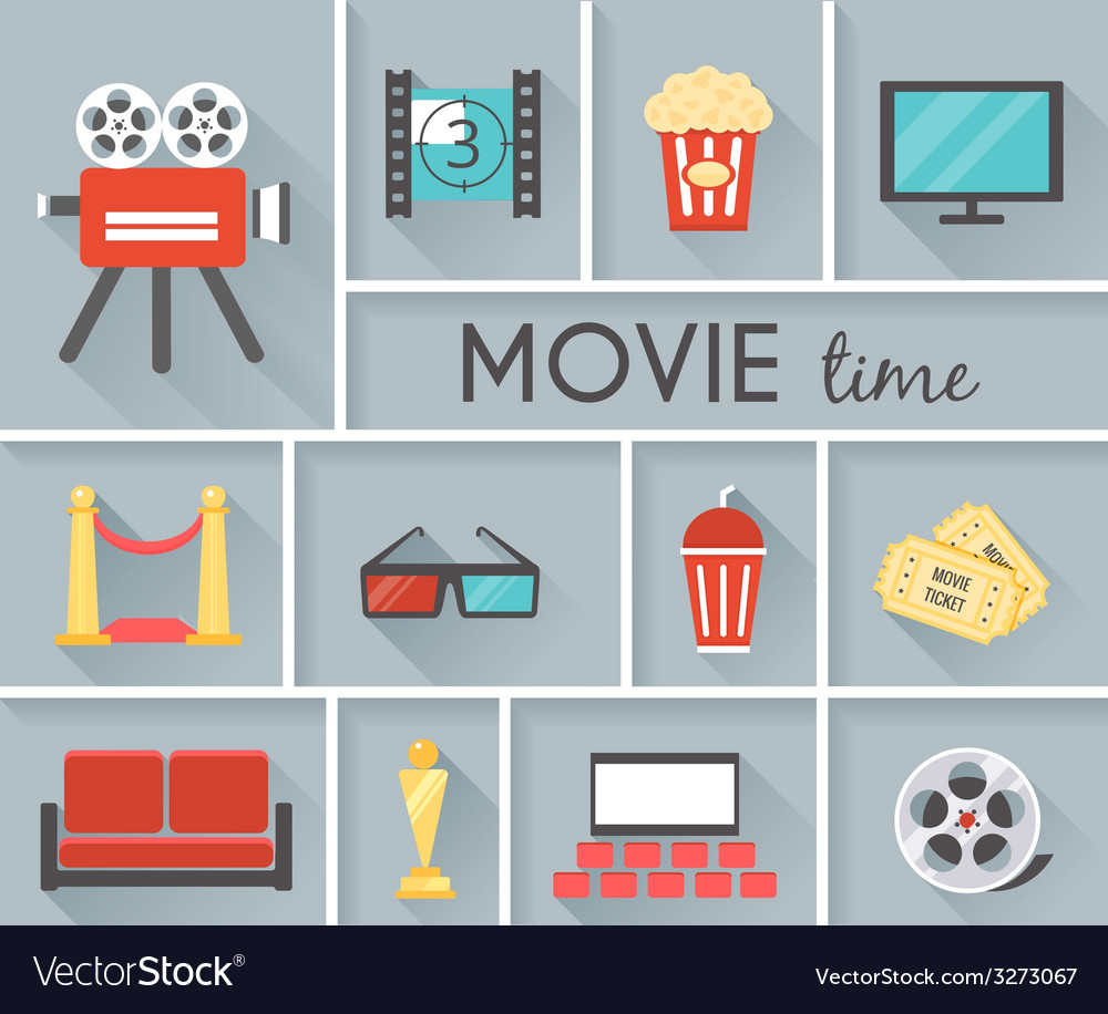 Conceptual movie time graphic design vector | Price: 1 Credit (USD $1)