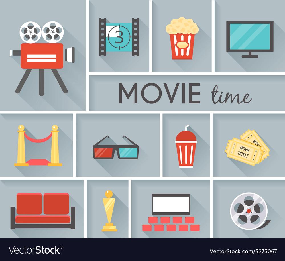 Conceptual movie time graphic design vector   Price: 1 Credit (USD $1)