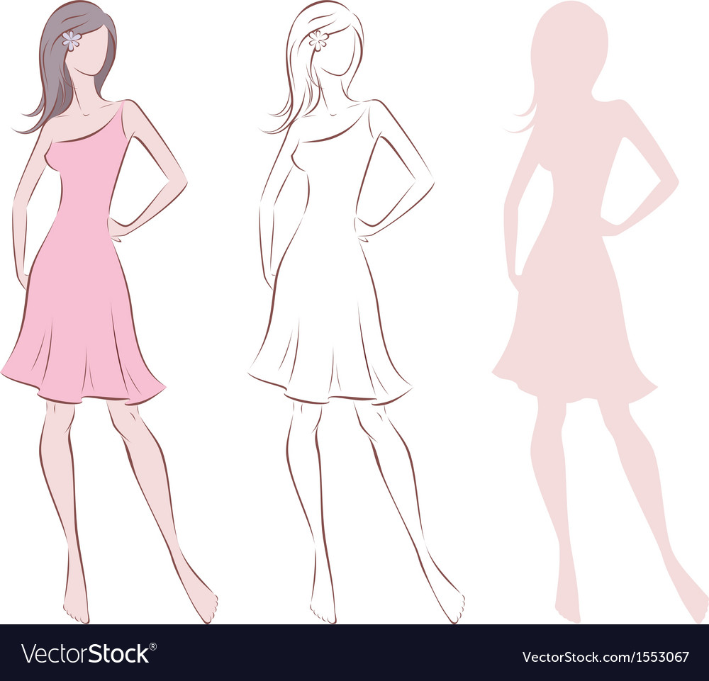 Female figure vector | Price: 1 Credit (USD $1)
