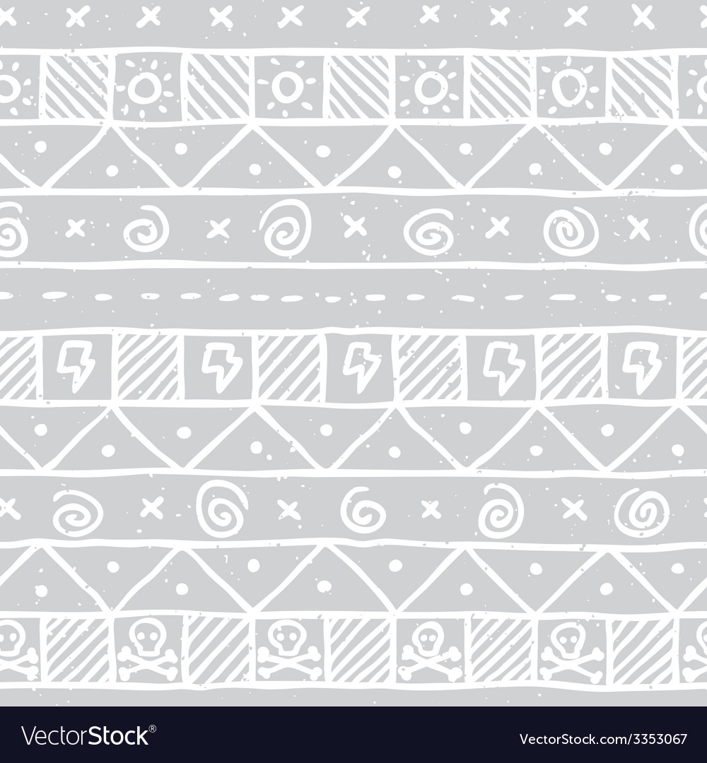 Native skull seamless pattern vector | Price: 1 Credit (USD $1)