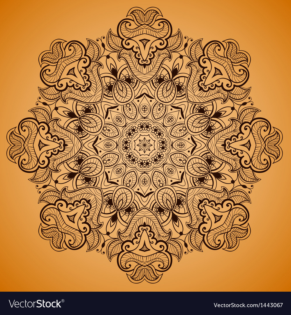 Ornamental round lace pattern is like mandala 2 vector | Price: 1 Credit (USD $1)