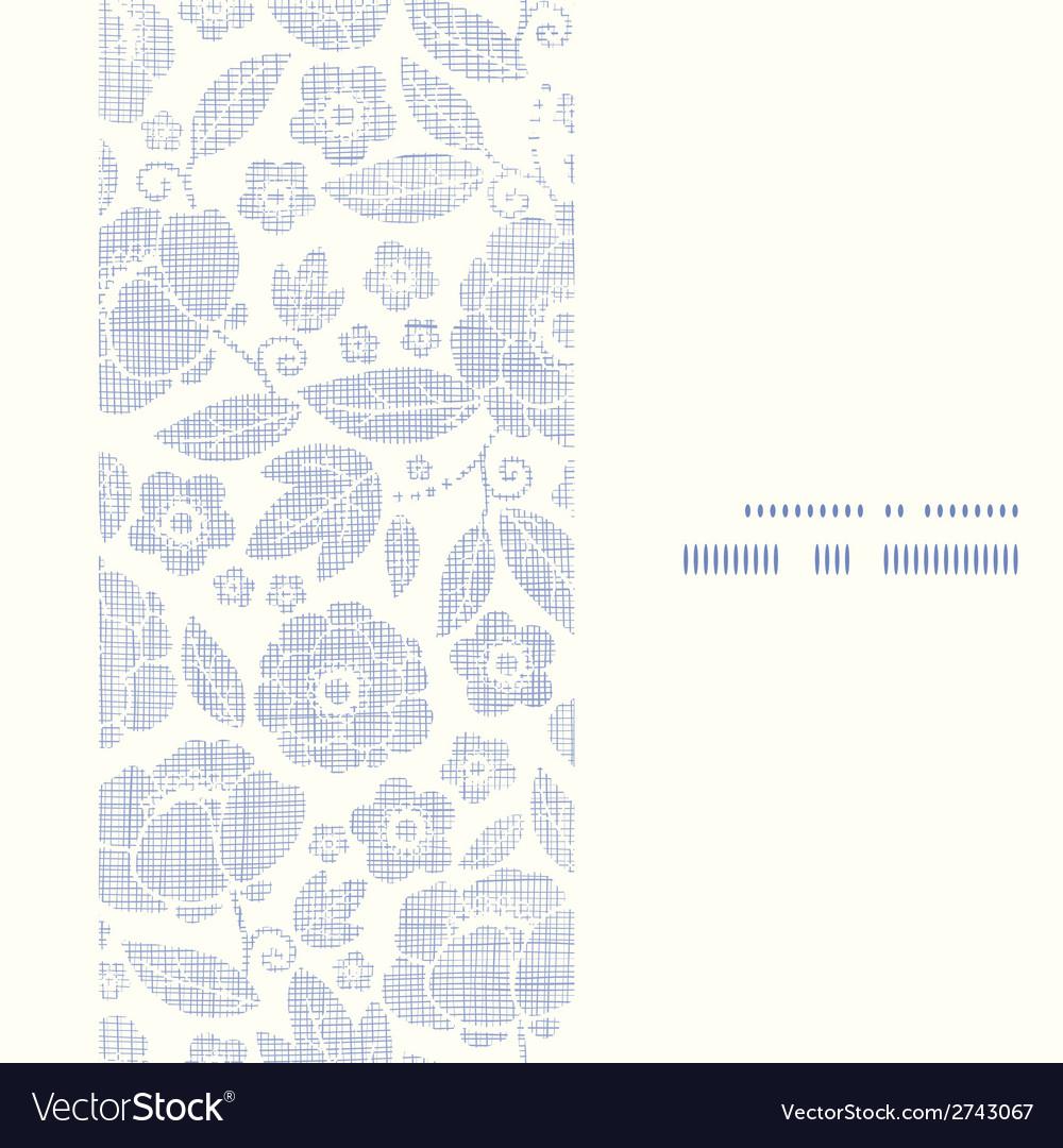 Purple textile flowers texture vertical frame vector | Price: 1 Credit (USD $1)