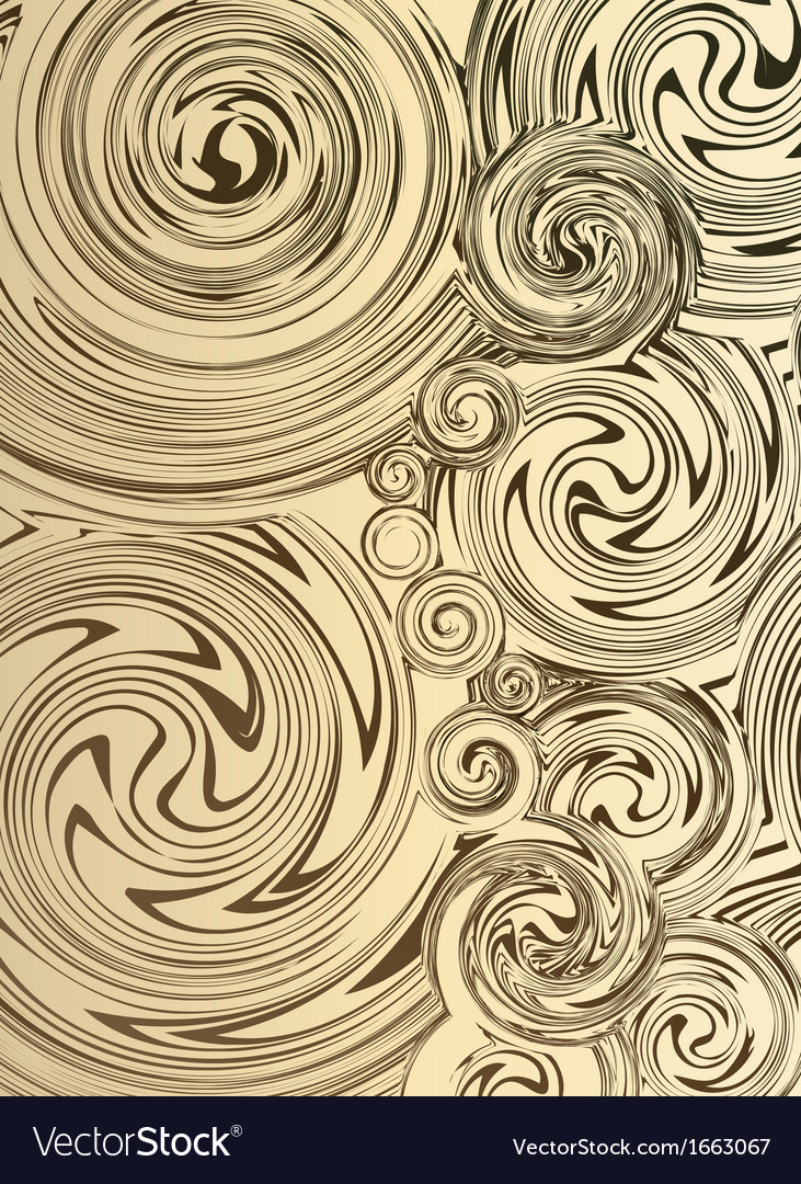 Swirling hand drawn of various vintage background vector | Price: 1 Credit (USD $1)