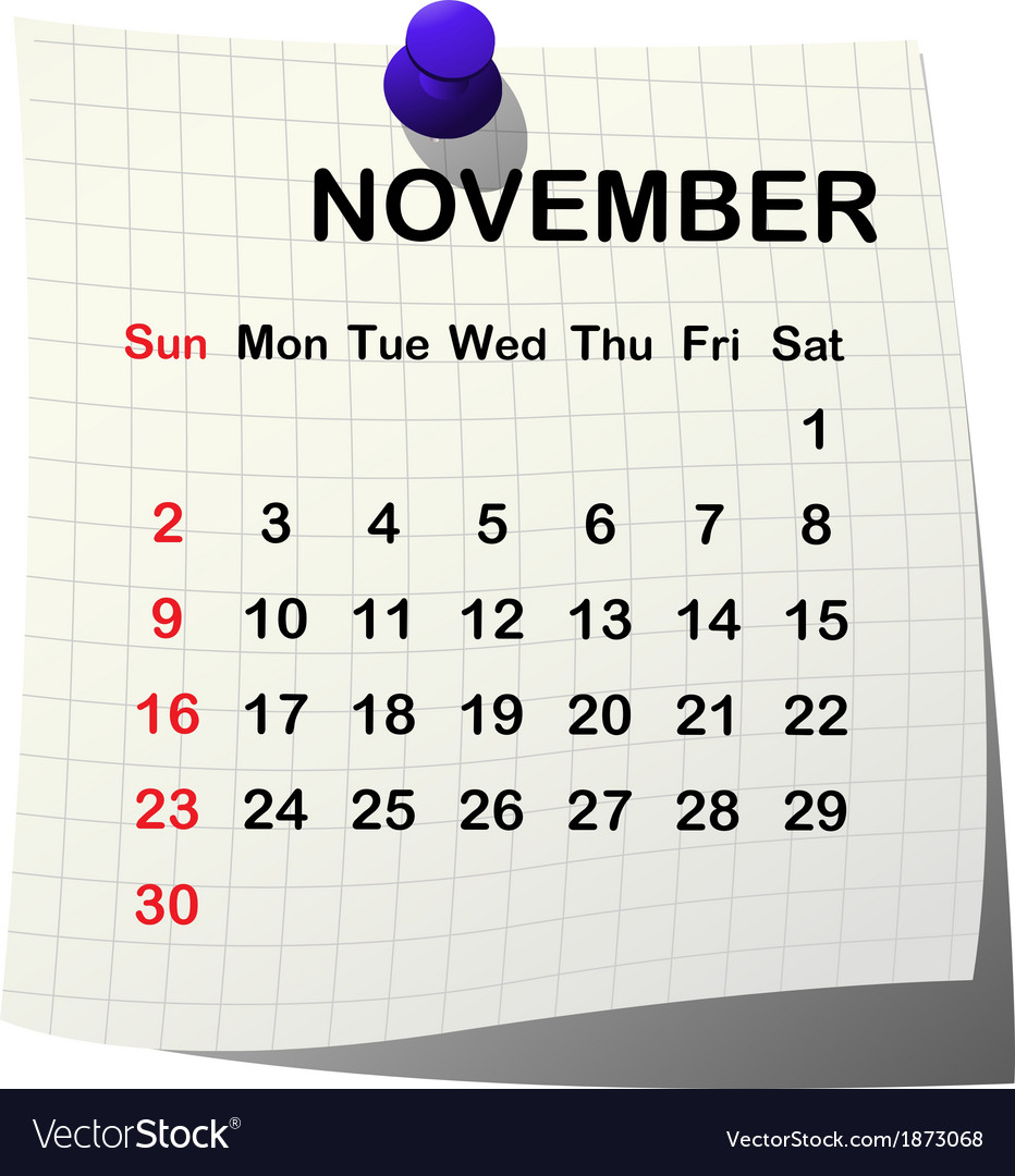 2014 paper calendar for november vector | Price: 1 Credit (USD $1)